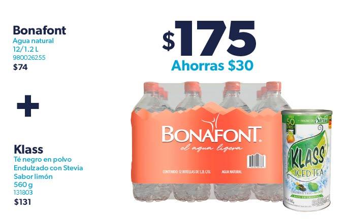 Agua natural+Té negro