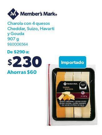 Charola con 4 quesos