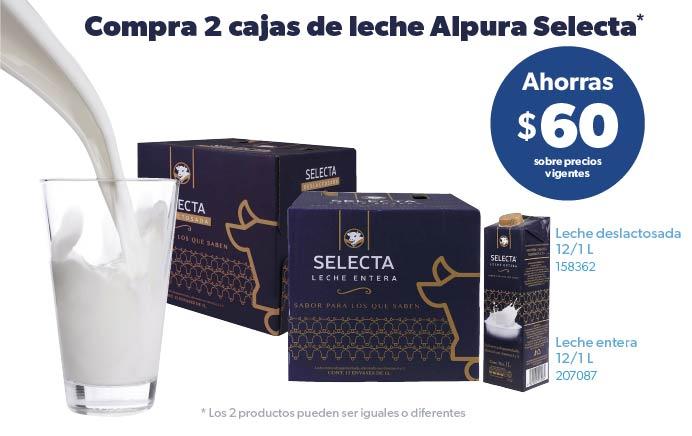 Compra 2 cajas de leche Alpura Selecta