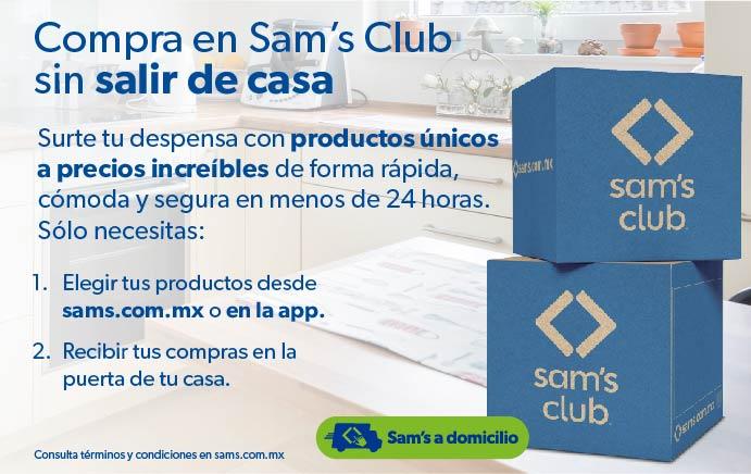 Compra en Sam's Club sin salir de casa