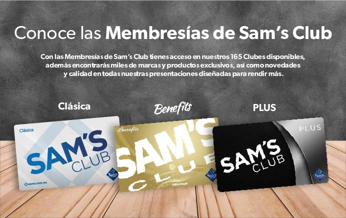 Conoce las Membresías de Sam's Club