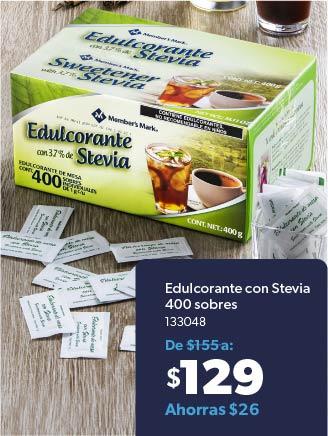 Edulcorante con Stevia