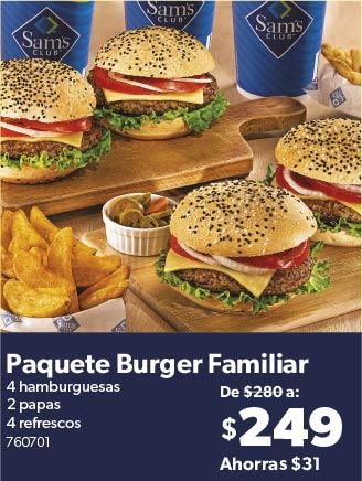 Paquete Burger Familiar